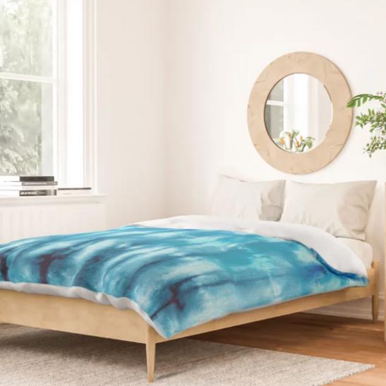 Shibori Ombre Nori Cotton Comforter