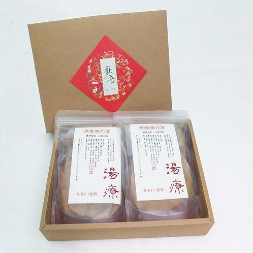 野黨蟲草花燉螺片禮盒 每盒(2包)