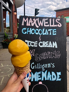 Maxwells in Hamilton is now serving Gilligans homemade ice cream!