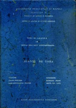 2006 - tesi di laurea a