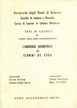 1989 - tesi di laurea a