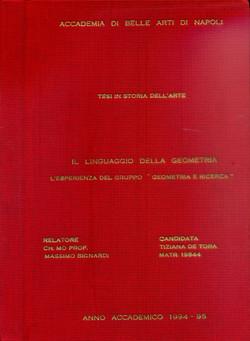 1995 - tesi di laurea a