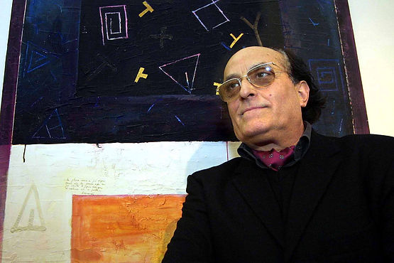 2004 - De Tora con la sua opera Mediterraneo.jpg