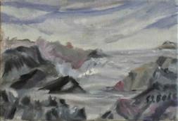 Rocky snowy mountains