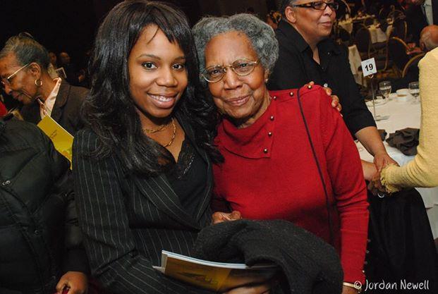 Historian Rella Braithwaite with grandau