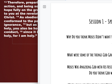6 Session Power Points/Study Guide