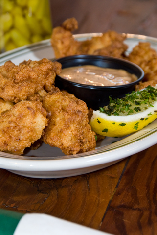 Fried alligator fingers