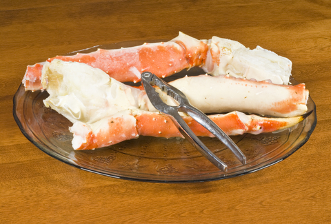 Plateful of Alaskan King Crab Legs