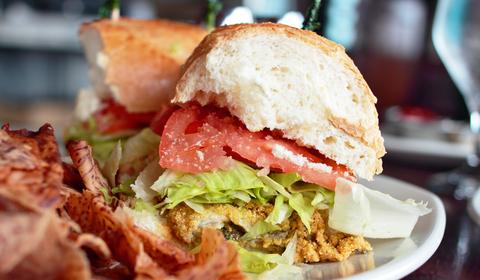 Oyster Po' Boy Sandwich