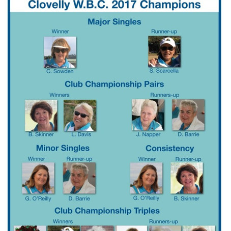 2017 Club Championships Results
