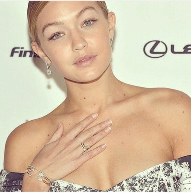 Celebrity makeup artist Casey Cheek client Gigi Hadid on red carpet