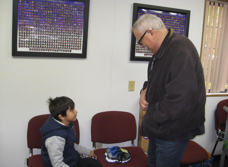 "TSE Employee Being ""Good Neighbor,"" Providing Free Shoes to Children in Need"