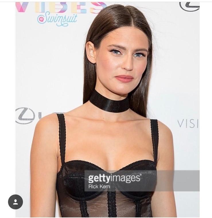 Celebrity makeup artist client poses