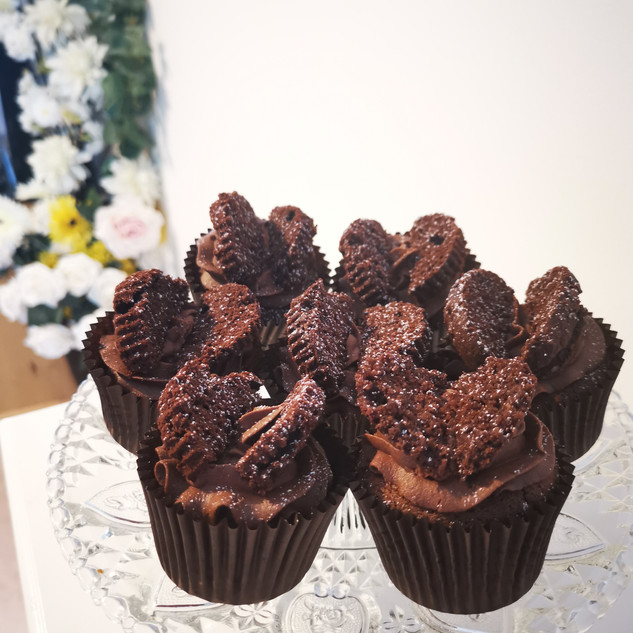 Chocolate Buttercream Butterfly Cupcakes