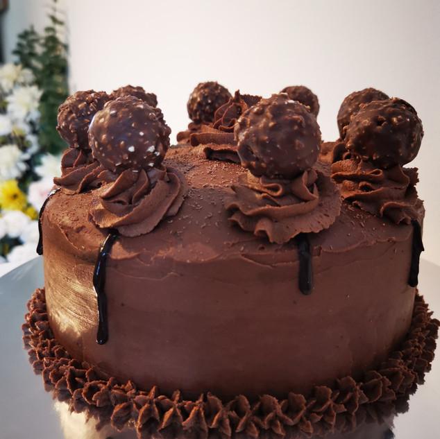 Ferrero Rocher Dark Chocolate Cake