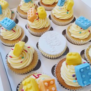 Lego themed cupcakes