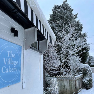 The Village Cakery in the snow