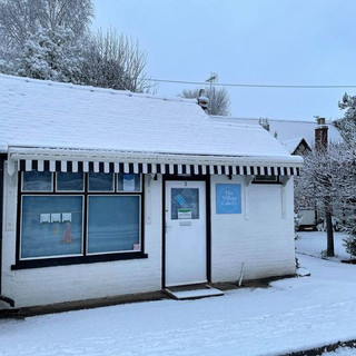 Cute cakery in the snow