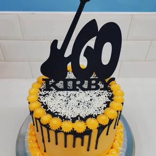 60th Guitar cake