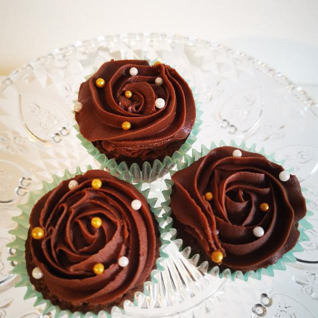 Rose Chocolate Cupcakes