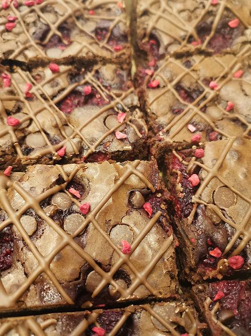 Dark Choc & Raspberry Brownies