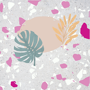 Pastel palm and olive branch