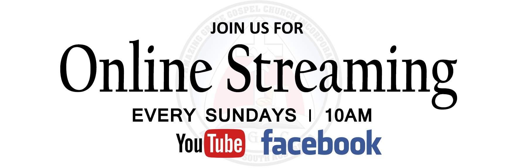 Streaming live Church Service on Youtube & Facebook