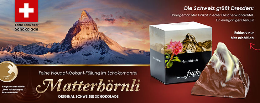 Feine Nougat Krokrant Füllung im Schokomantel, original Schweiz