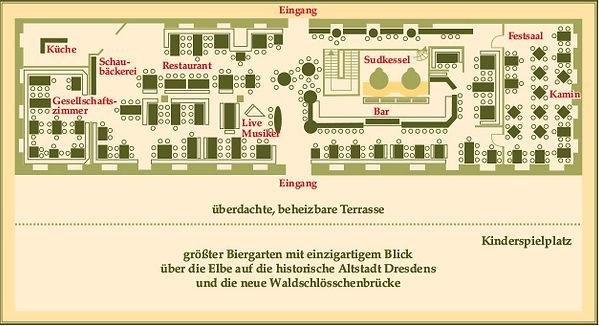 Raumplan Brauhaus am Waldschlösschen