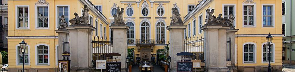 Barockes Flair an der Frauenkirche in Dresden im Coselpalais