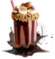 Marshmallow Schokolade Milchshake