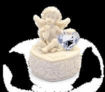 Kleine Engeldose mit Herz