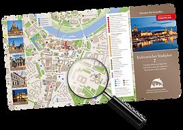 Restaurants und Sehenswürdigkeiten entdecken auf dem kulinarischen Stadtplan
