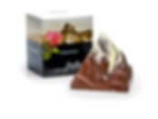 Original Schweizer Matterhörnli aus Schokolade mit Nougat Krokantfüllung