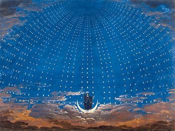 """Bühnenbild von Mozarts Oper """"Die Zauberflöte"""""""