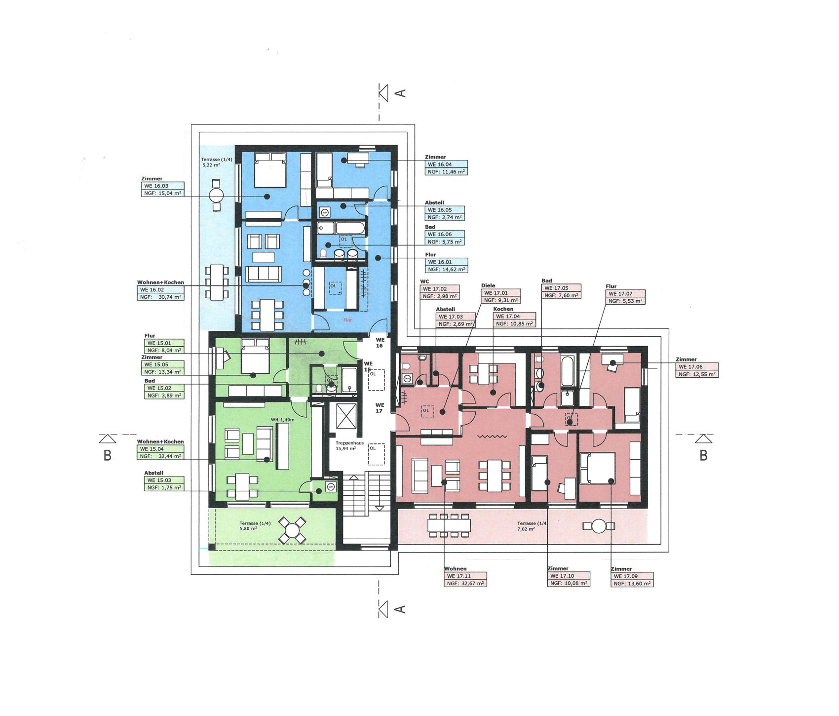Viertes Obergeschoss