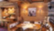 Gemütliche Sitzecke im Obergeschoss im Chalet Stil