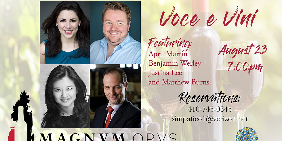 Opera & Wine Dinner: Voce & Vini