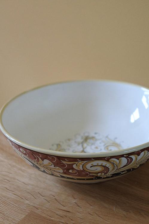 Renaissance Leaf Terra Cotta Bowl 18cm