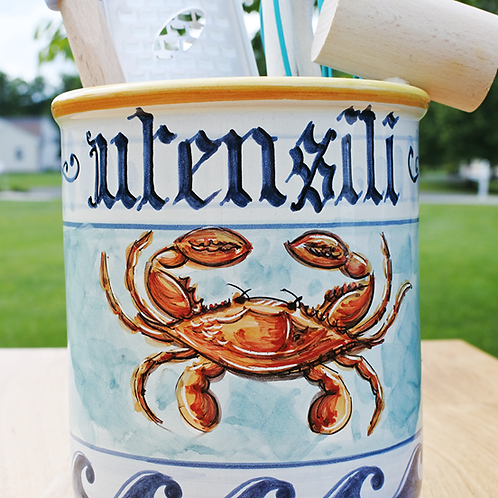 Crab Utensil Holder