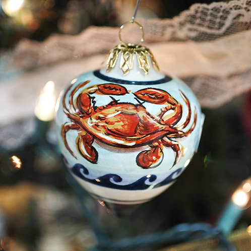 Red Crab Small Tear Ornament