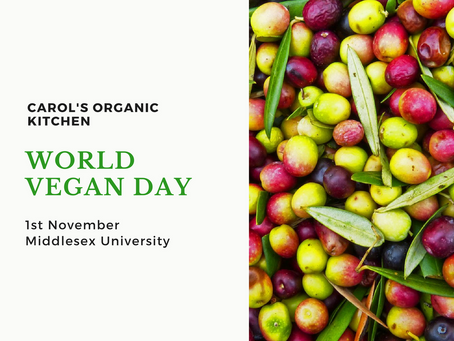 World Vegan Day Talk and Food Demo at Middlesex University