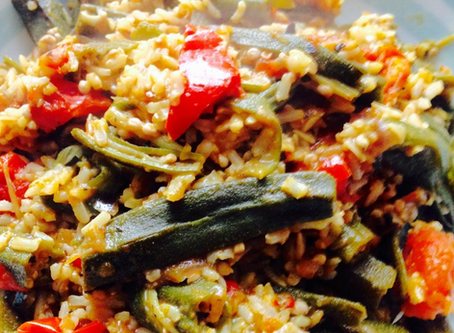 Caribbean Style Paella (with Wild Rice)