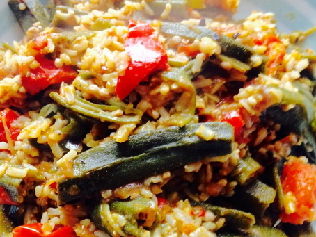 Caribbean Style Paella (with Wild Rice)
