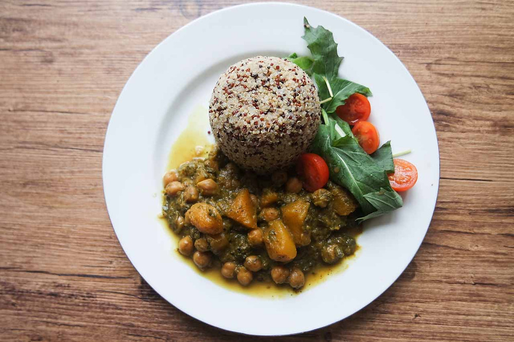 Chick Pea, Butternut Squash and Purslane Curry