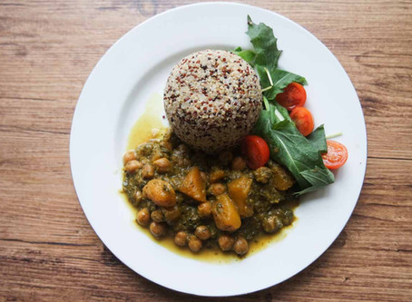 Chick Pea, Butternut Squash and Purslane Curry Recipe