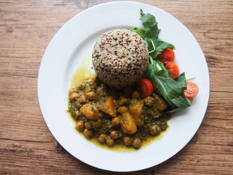 Chick Pea, Butternut Squash and Purslane Curry Recipe