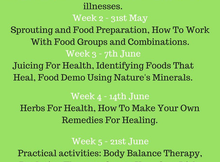 Foods And Herbs That Maintain Good Health & Heal The Body - Workshop