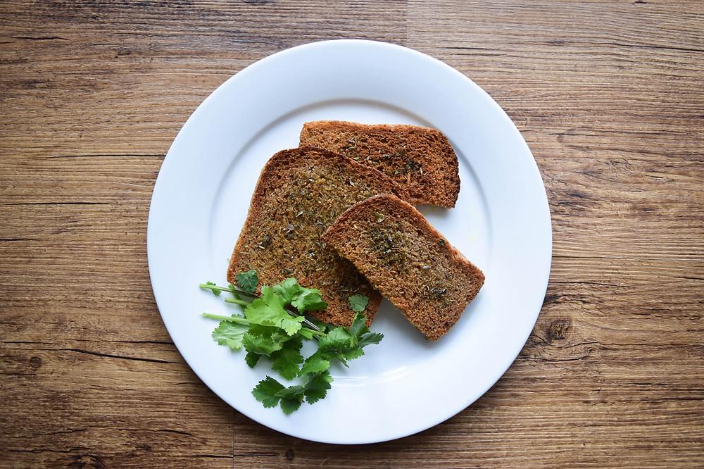 My Herb Toast Recipe - Carol's Organic Kitchen