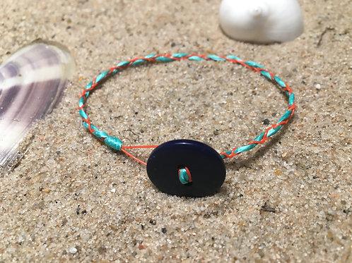 Bracelet, multicolored fishing net